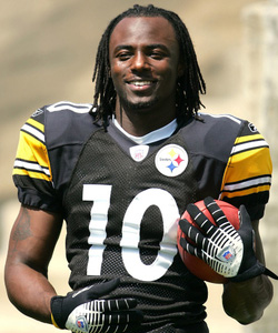 02f2c79cf55 Former Steelers receiver and Super Bowl MVP Santonio Holmes recently joined  us on the SN Podcast this week to talk about his foundation among other  things.